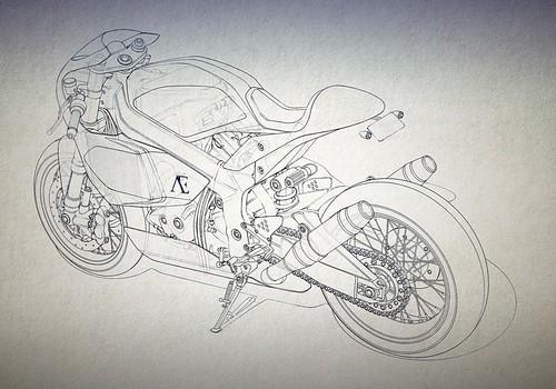 Концепт Praëm SP3 на базе Honda VTR1000 SP1