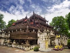 The fine teak monastery Shwenandaw Kyaung