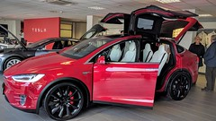 Tesla can in the show room