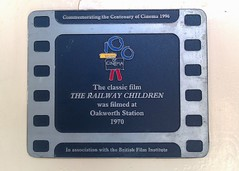 Photo of The Railway Children film cell plaque