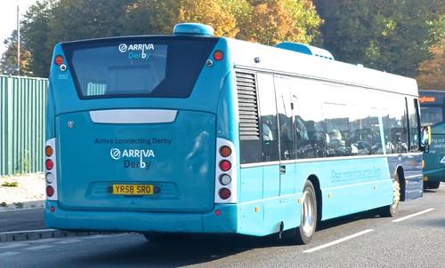 YR58 SRO 'Arriva Midlands' No. 3552 Scania Omnicity /4 on 'Dennis Basford's railsroadsrunways.blogspot.co.uk'