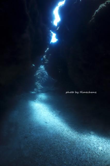ここの洞窟もいい感じ♪