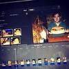 Estou editando vídeo no ônibus :joy::thumbsup: #iMovie #macbook #video #saopaulo