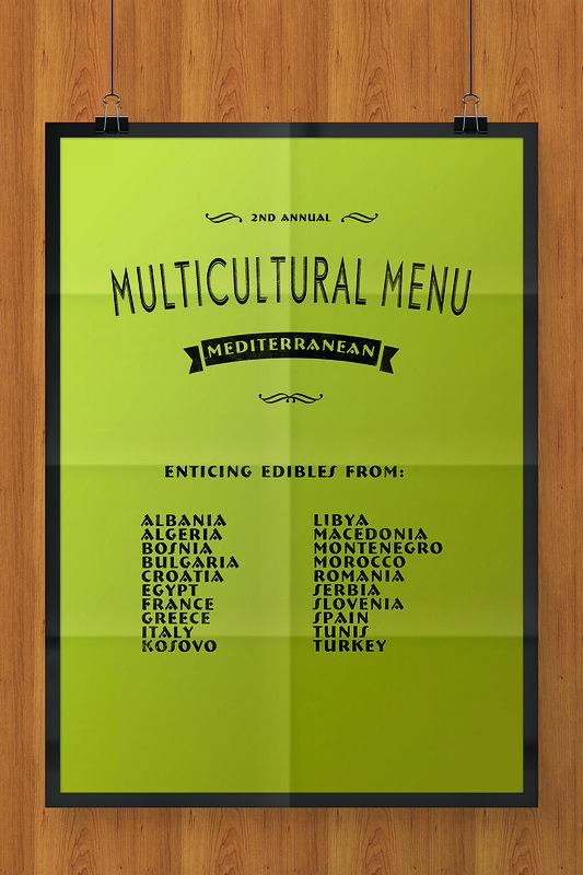 Multicultural Menu Mediterranean