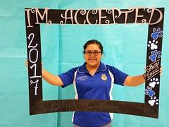 Congratulations to Miranda Trevino who got accepted to Blinn College in Bryan, Texas! #CollegeBound #CollegeBoundBulldogs #Somerset2017