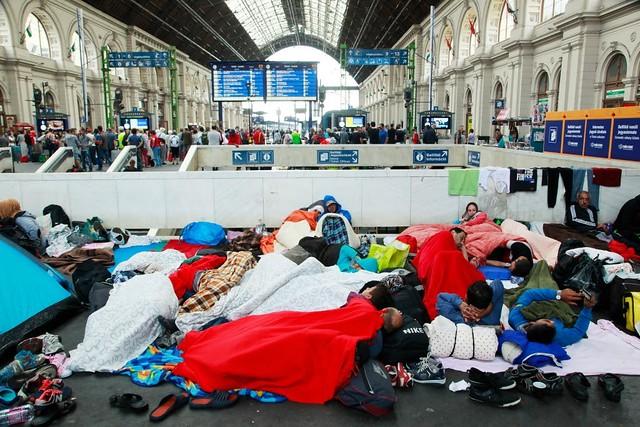 refugee crisis refugees budapest train station