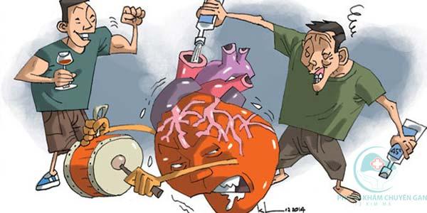 Uống bia rượu nhiều nguy cơ gây bệnh gan