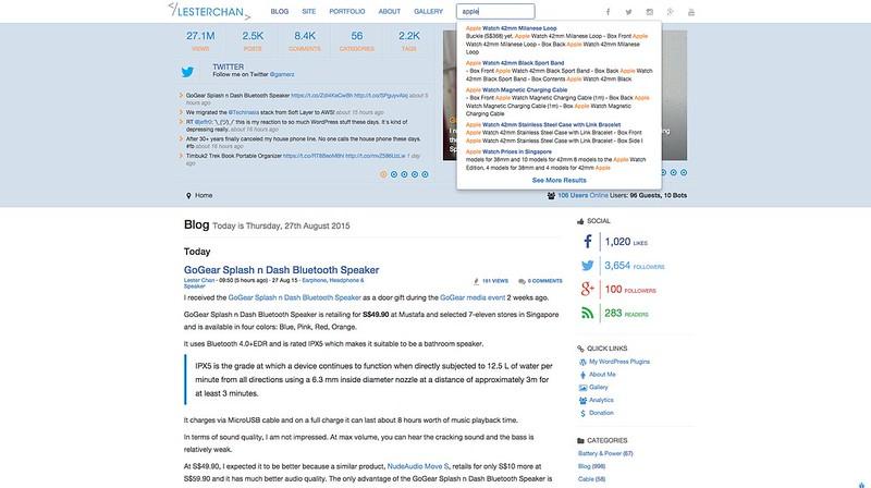 lesterchan.net - Algolia Search - Search Box