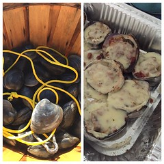....and fresh clams casino. Productive day harvesting the bay!
