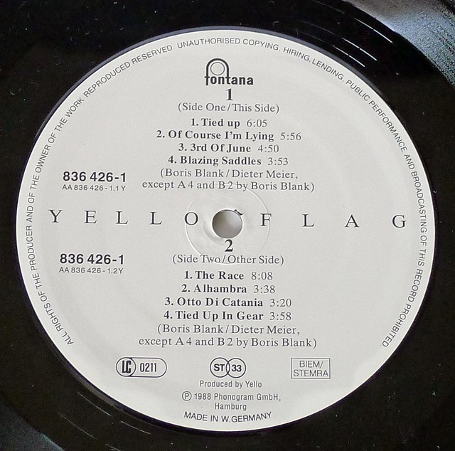 "YELLO FLAG 12"" LP"