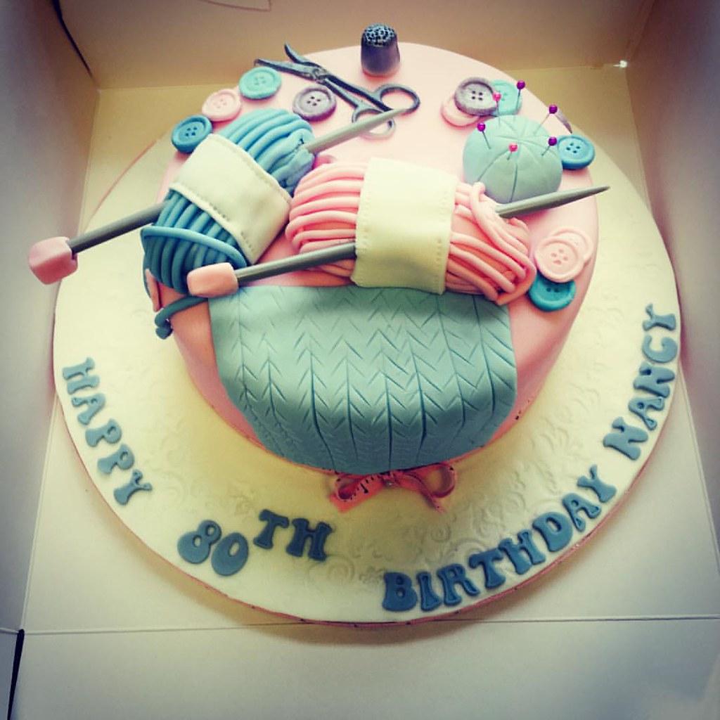 Knitting Themed Cake Daisycakesuktorquaydevoncupcakes