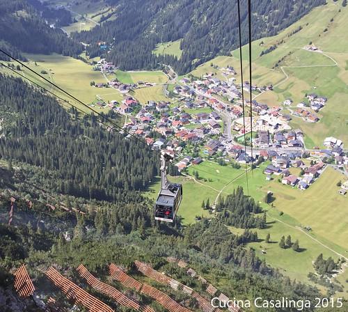 Lech Blick Gondel Ort