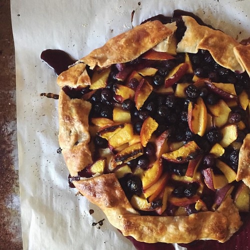 Nectarine and Blueberry Crostata