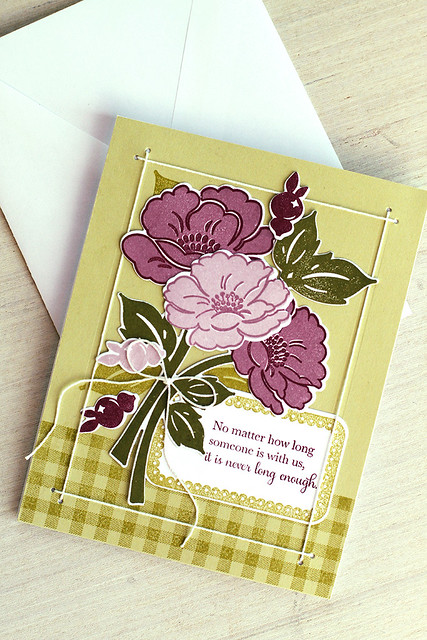 String Frames Dies with Vintage Linens from Papertrey Ink