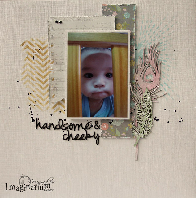 """Handsome & Cheeky"" Layout"