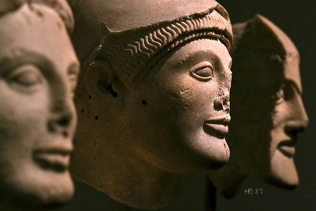Warriors from the Pediment at Aegina from the National Archaeological Museum (artificial light, Oct 2014)