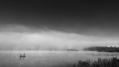 morning blackandwhite mist lake fall fog sunrise landscape illinois still fishing running calm tranquil facebook iphone bolingbrook twitter 500px tumblr