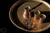 Decorative bronze tea set with arabic cups by PrgomeljaDusanAna