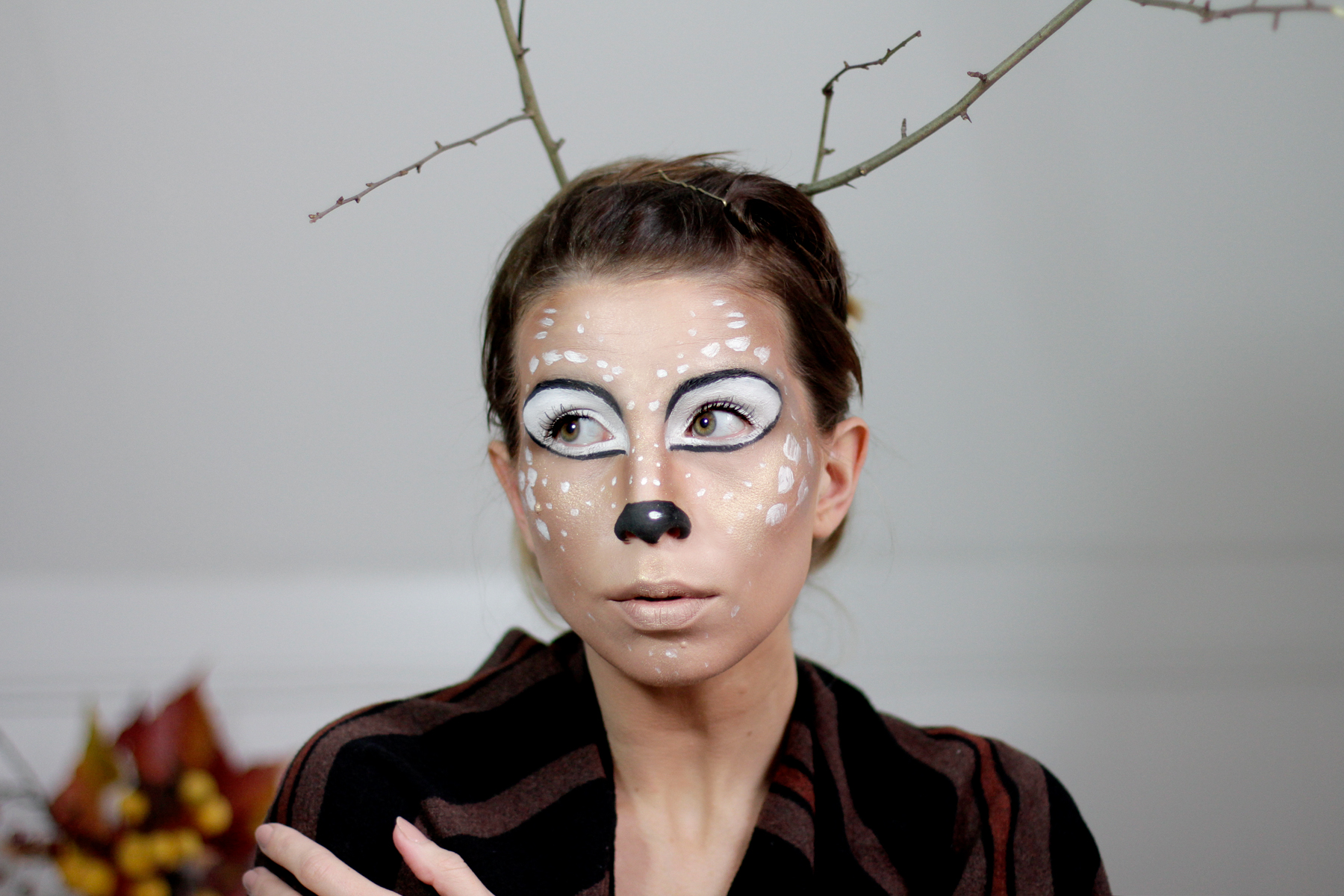 halloween bambi deer make up styling idea tutorial how to schminken grusel scary cats & dogs beauty blog beautyblogger ricarda schernus 5