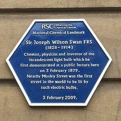 Photo of Joseph Wilson Swan blue plaque