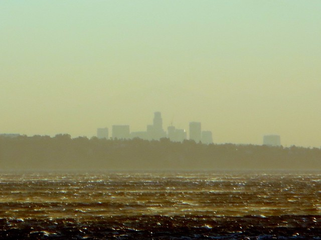 downtown LA from malibu