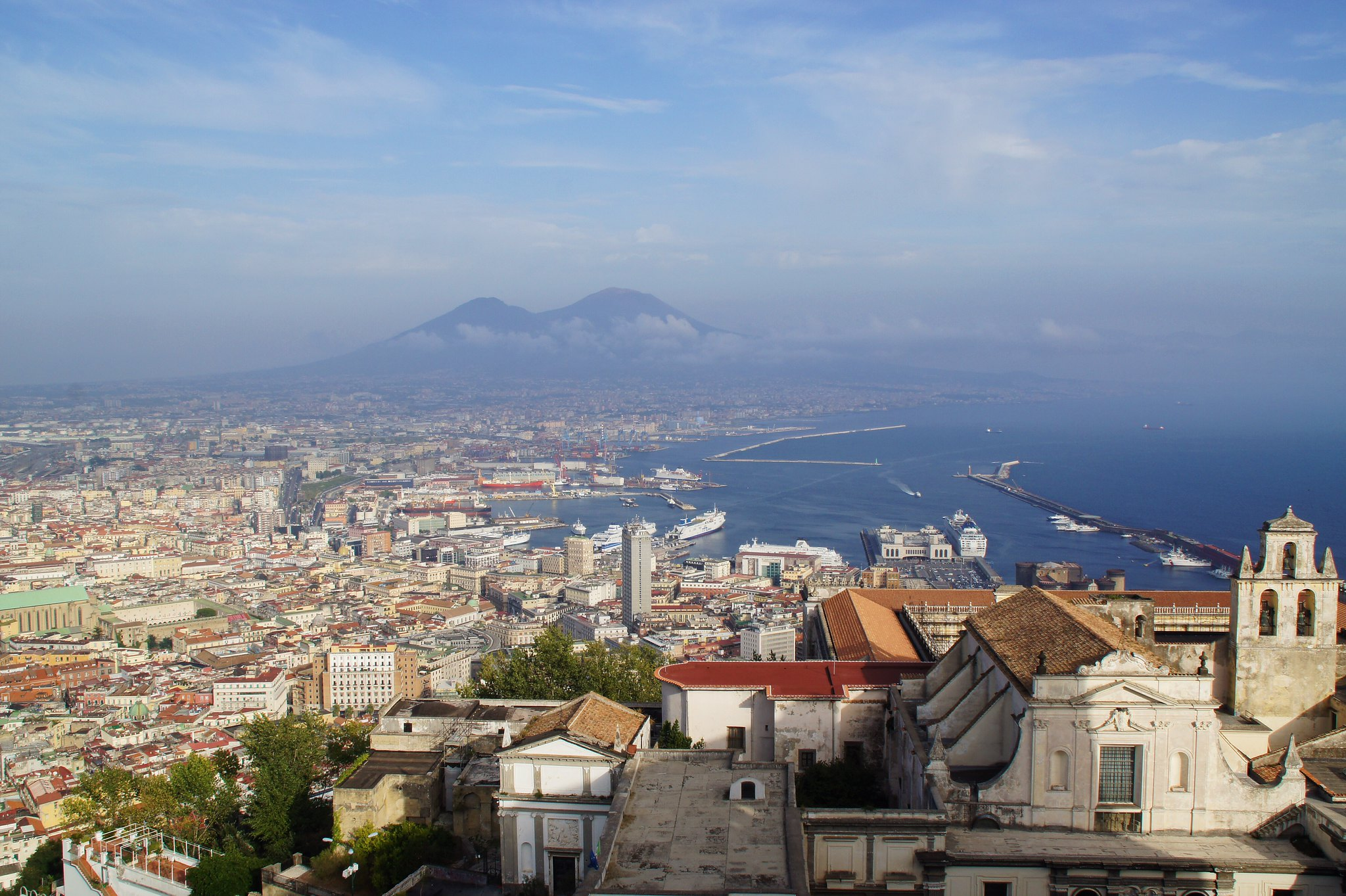 View from Saint Elmo Castle with Vesuvius, Naples