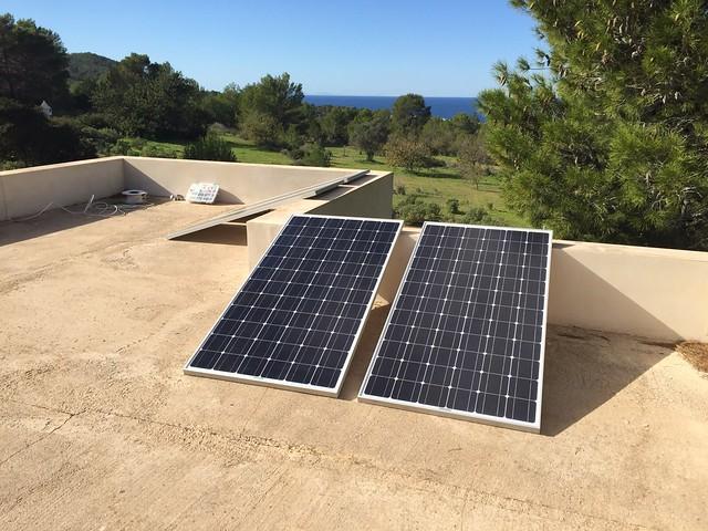 Placas solares para alarma y cctv