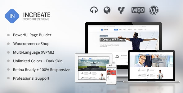 ThemeForest inCreate v1.1.6 - Responsive MultiPurpose WordPress Theme