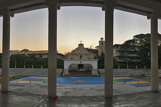 San Fernando City - Town Plaza and church