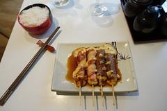 Bacon + Beef & cheese skewers @Yakitori @ Nago…