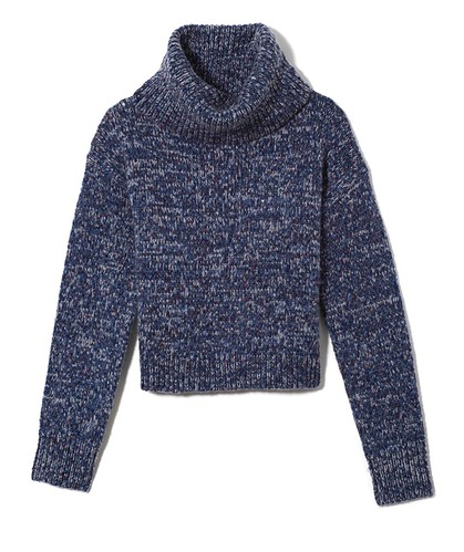 Lou and Grey Woodland Knit Turtleneck Sweater_Blue Multi