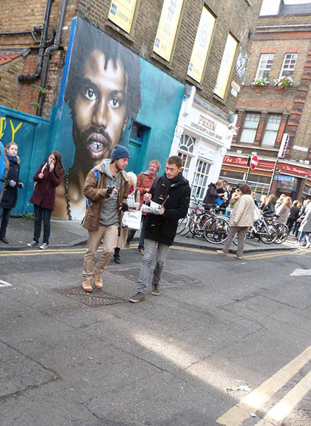 street art and fish and chips