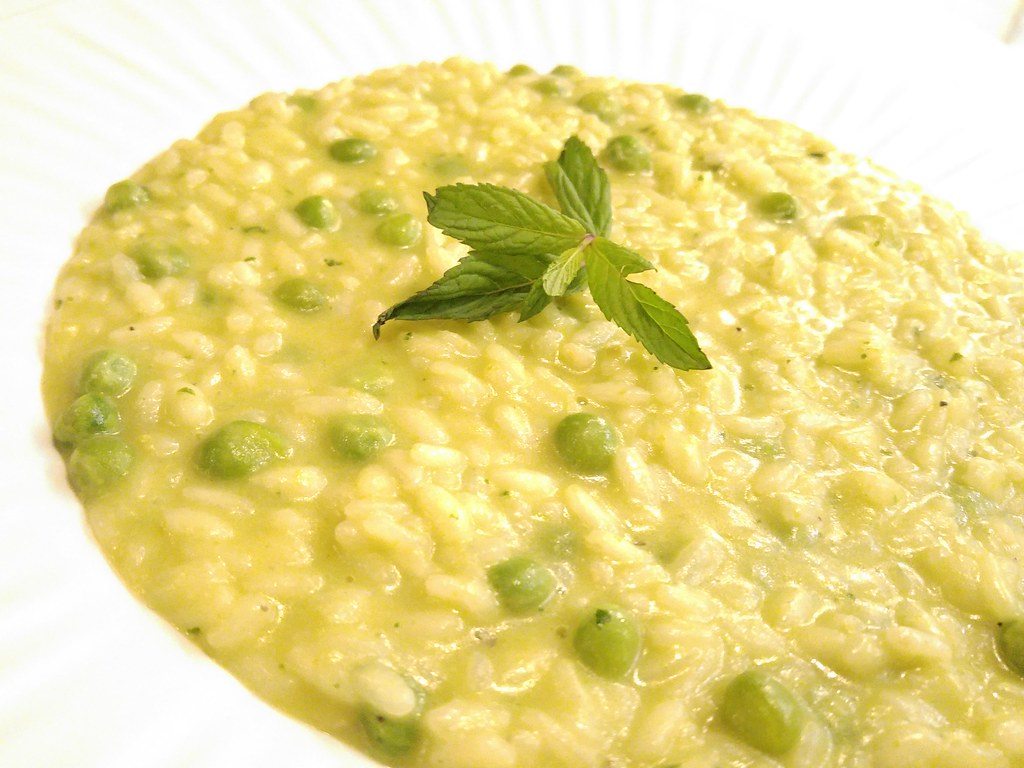 green peas risotto