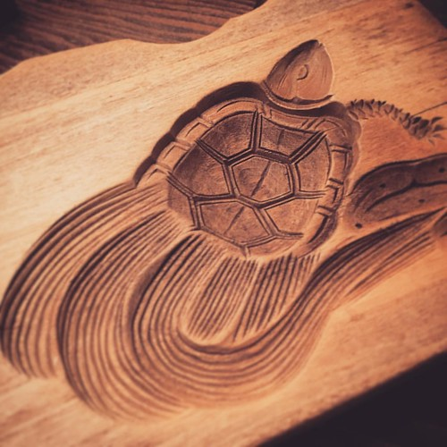 落雁木型、亀二枚型 ヨメとこれで何をつくろーか思案中 これ単体でもゴハンおかわりできる