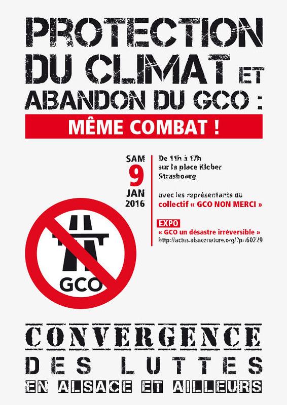 Convergence 9 janvier 2016 « Climat et GCO, même combat ! »