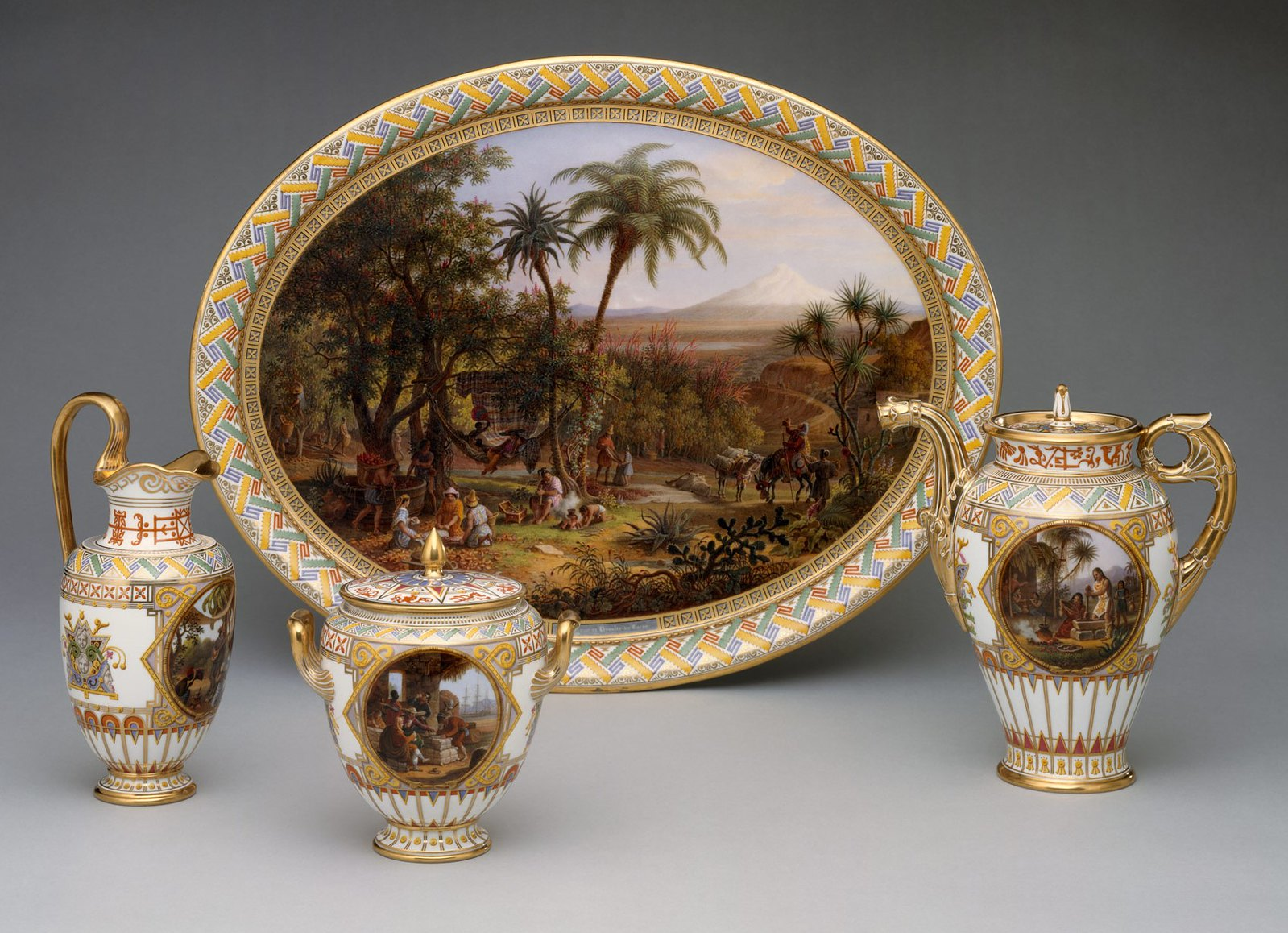 1836 Coffee service. Hard-paste porcelain. metmuseum