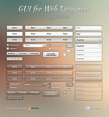 Free Cool Metallic and Glassy Web GUI Pack UI Kit