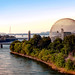 A view of the Biosphere in Montreal
