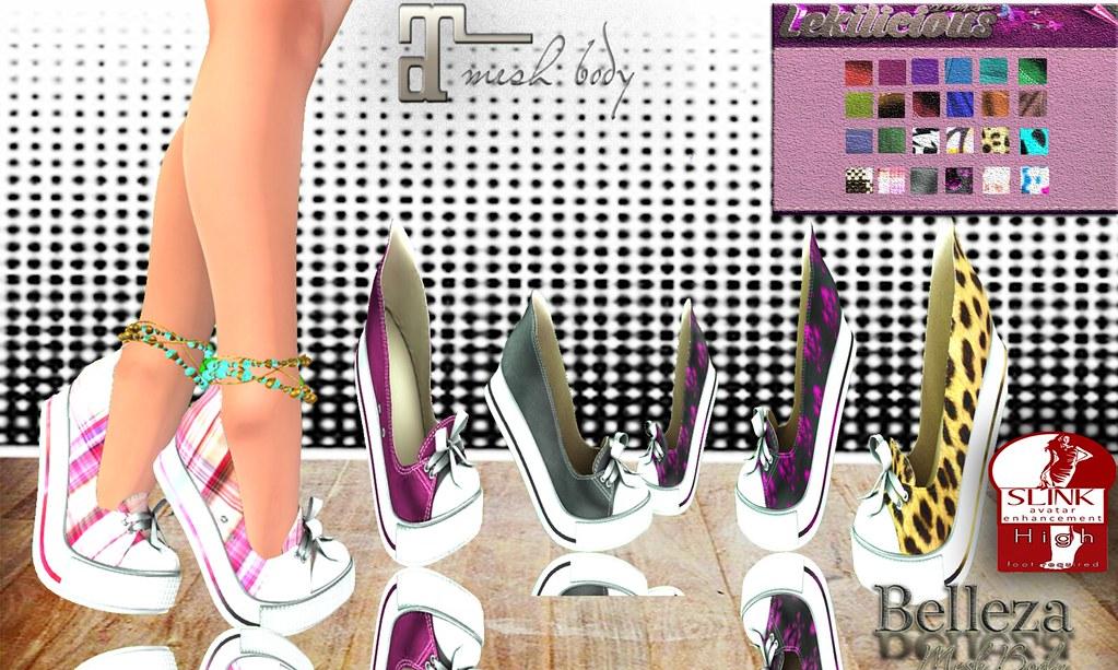 .:Lekilicious  Store  :. .Sneakers _Lek's  For  Feet  Maitreya,Belleza, Slink   With  HUD  24  COLORS                                                marktplace : https://marketplace.secondlife.com/p/Lekilicious-Store-Sneakers-Leks-HUD-24-colors-Boxed/1019 - SecondLifeHub.com