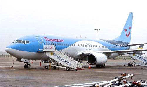 G-TAWF 'Thomson Airways' Boeing 737-8K5 on 'Dennis Basford's railsroadsrunways.blogspot.co.uk'