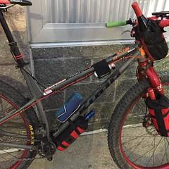 Field testing new bikepacking bags. ;) @bedrockbags Passed the wine test.