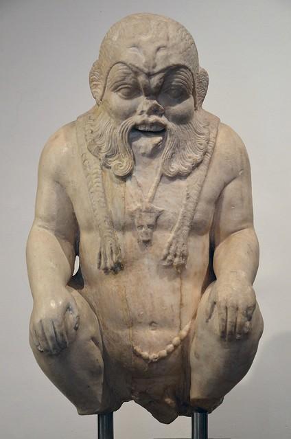 Marble statue of Bes, 1st century AD, from Rome, Museo di Scultura Antica Giovanni Barracco, Rome