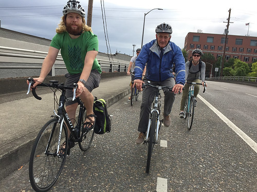 Mayor Hales' first bike commute-12.jpg