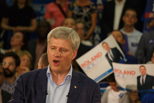 Stephen Harper Campaign in Montreal