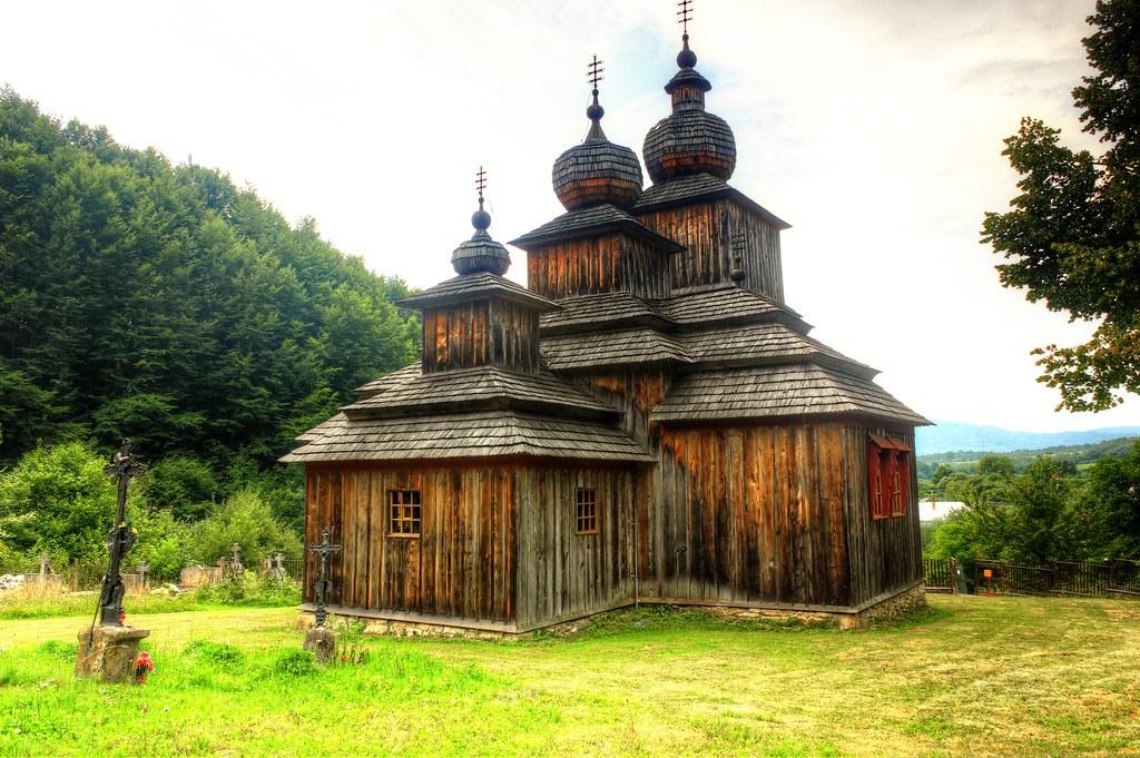 wooden church in dobroslava
