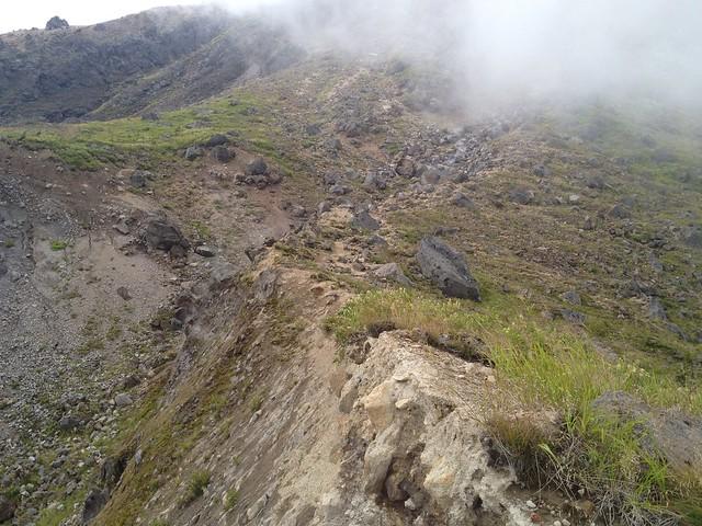 焼岳 中尾温泉ルート 登山道