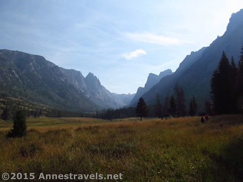 Hiking in the Wind Rivers. Smoke from fires in Idaho made the peaks a bit hazy.