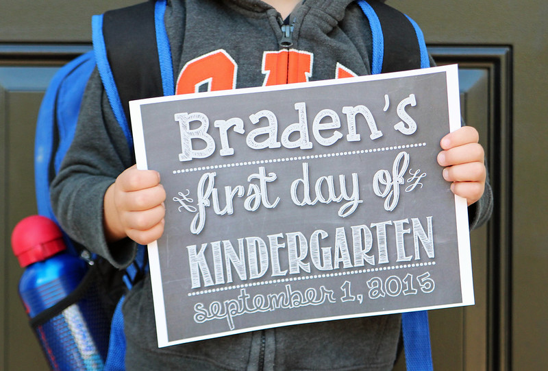 Braden's First Day of Kindergarten