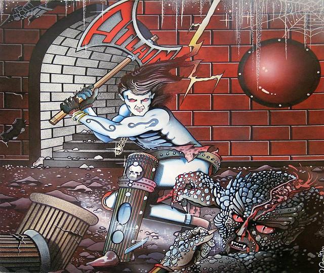"""ATLAIN LIVING IN THE DARK 12"""" VInyl LP"""