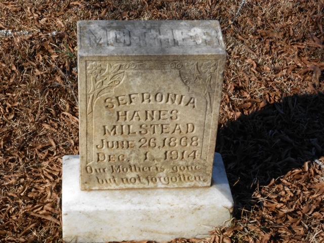 Sofronia Hanes Valentine headstone